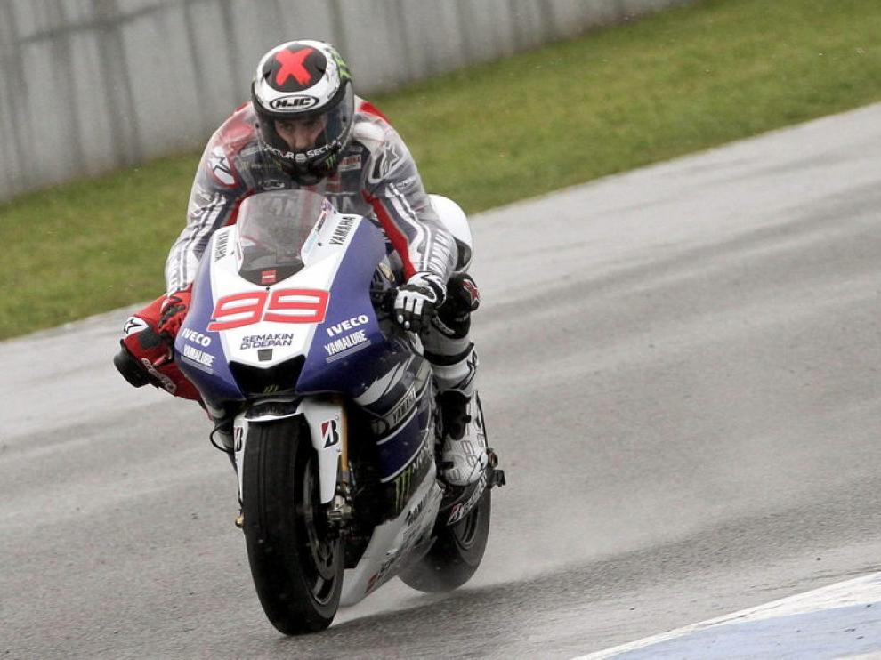 Jorge Lorenzo sobre la moto