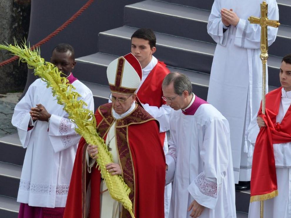 Francisco, en las celebraciones de Domingo de Ramos
