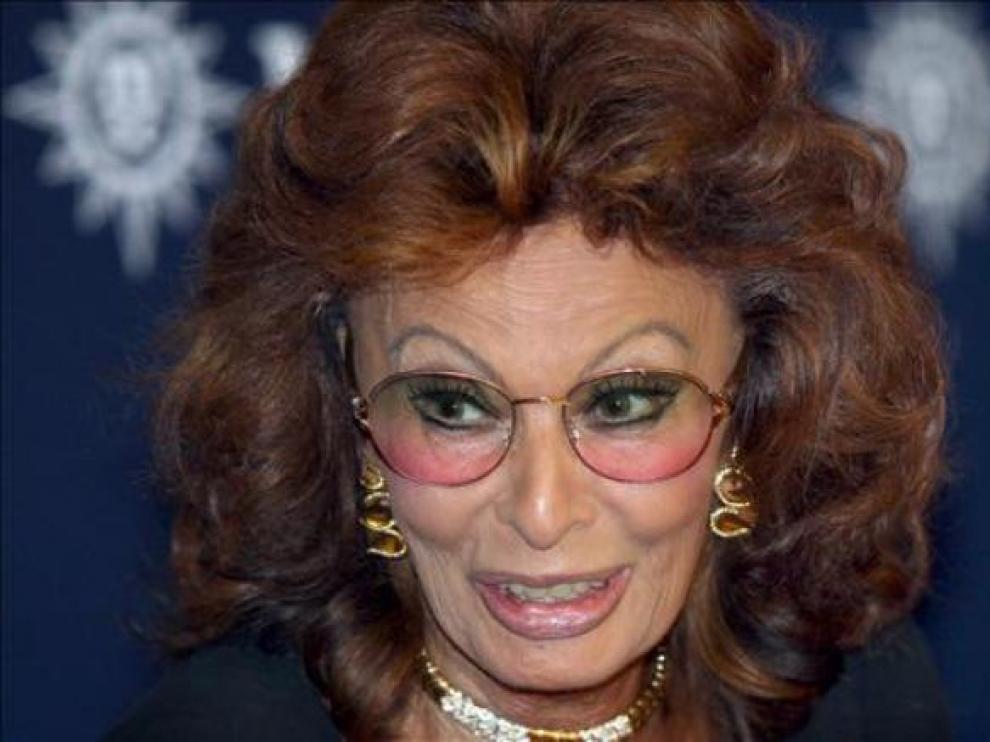 La actriz estuvo acompañada por Ennio Morricone
