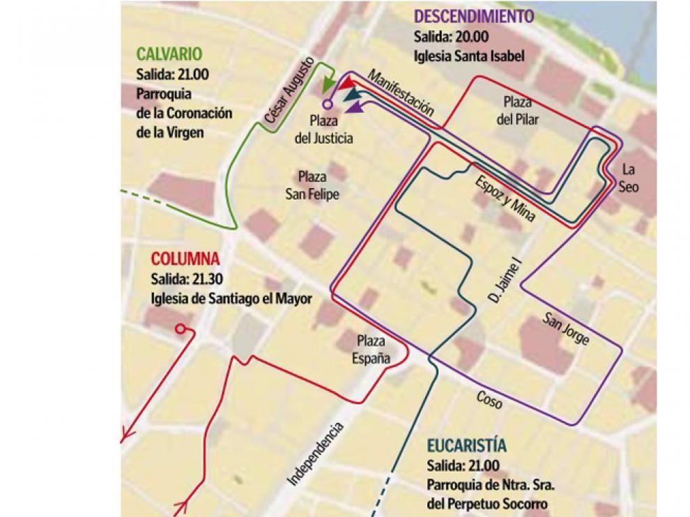 Procesiones del Jueves Santo 2013 en Zaragoza