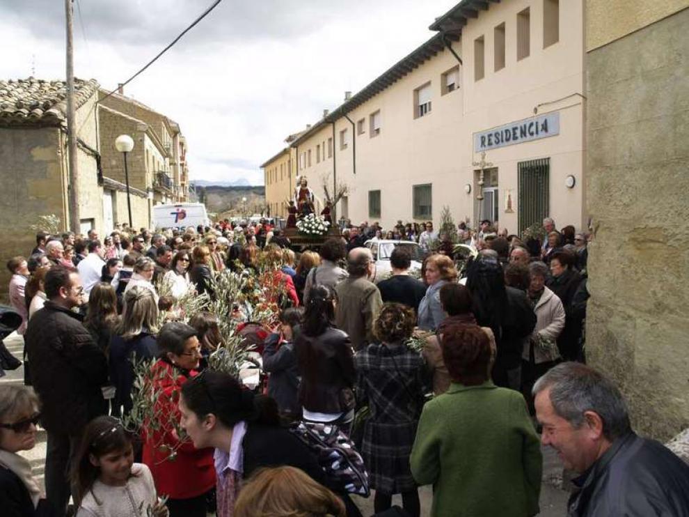 La Procesión de la Burreta, en Ayerbe