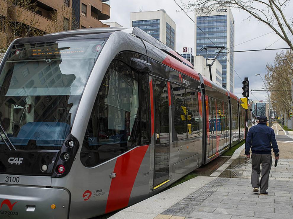 La línea 1 del tranvía de Zaragoza
