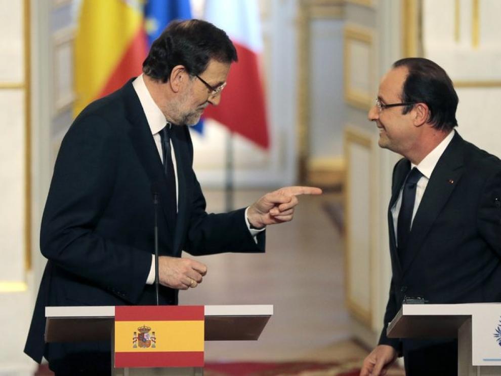 Rajoy y Hollande en el Elíseo