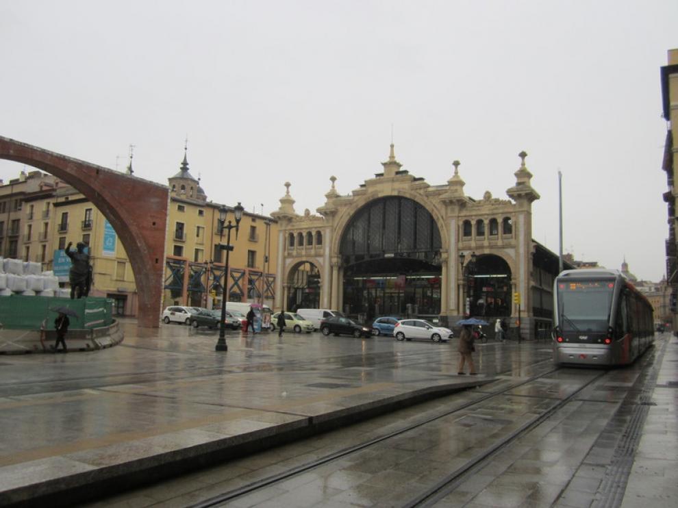 El Mercado Central de Zaragoza, este martes.
