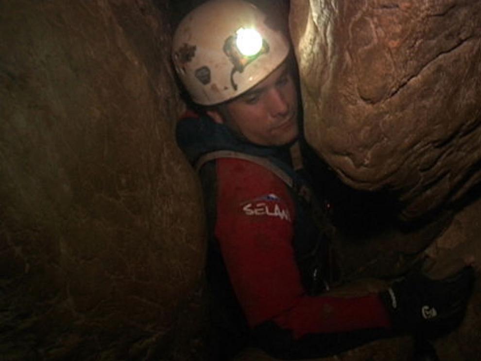 Los espeleólogos pasan parte de su tiempo en lugares como la Cueva del Gato.