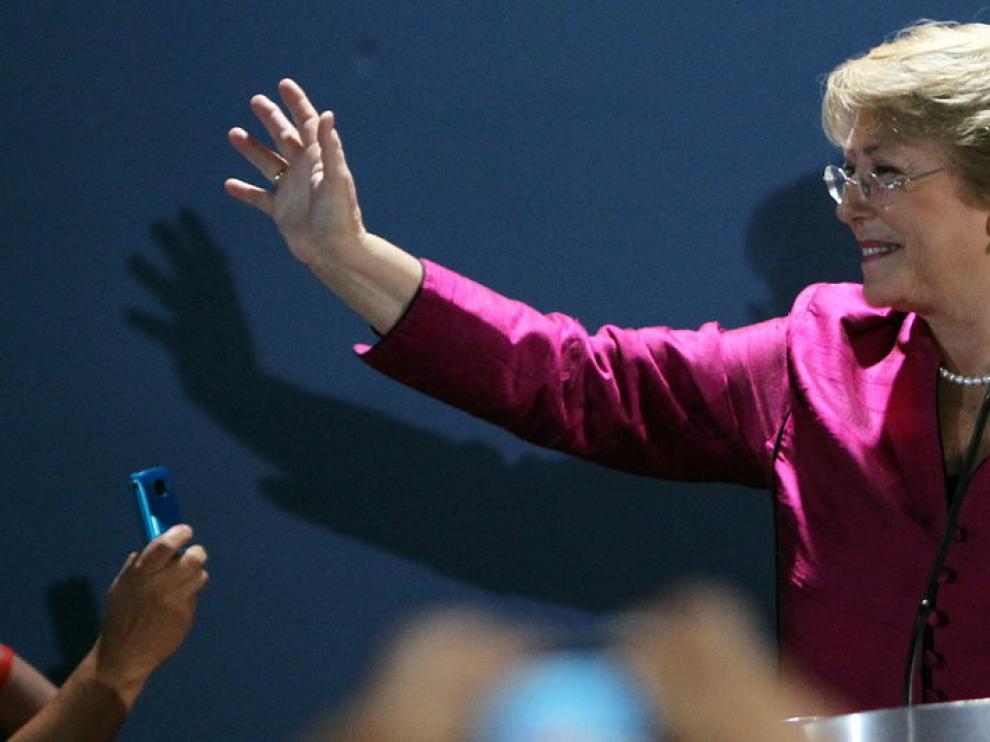 Michele Bachelet, en el momento de anunciar su candidatura
