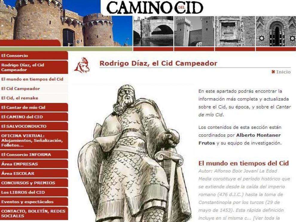 Imagen de la web del Camino del Cid