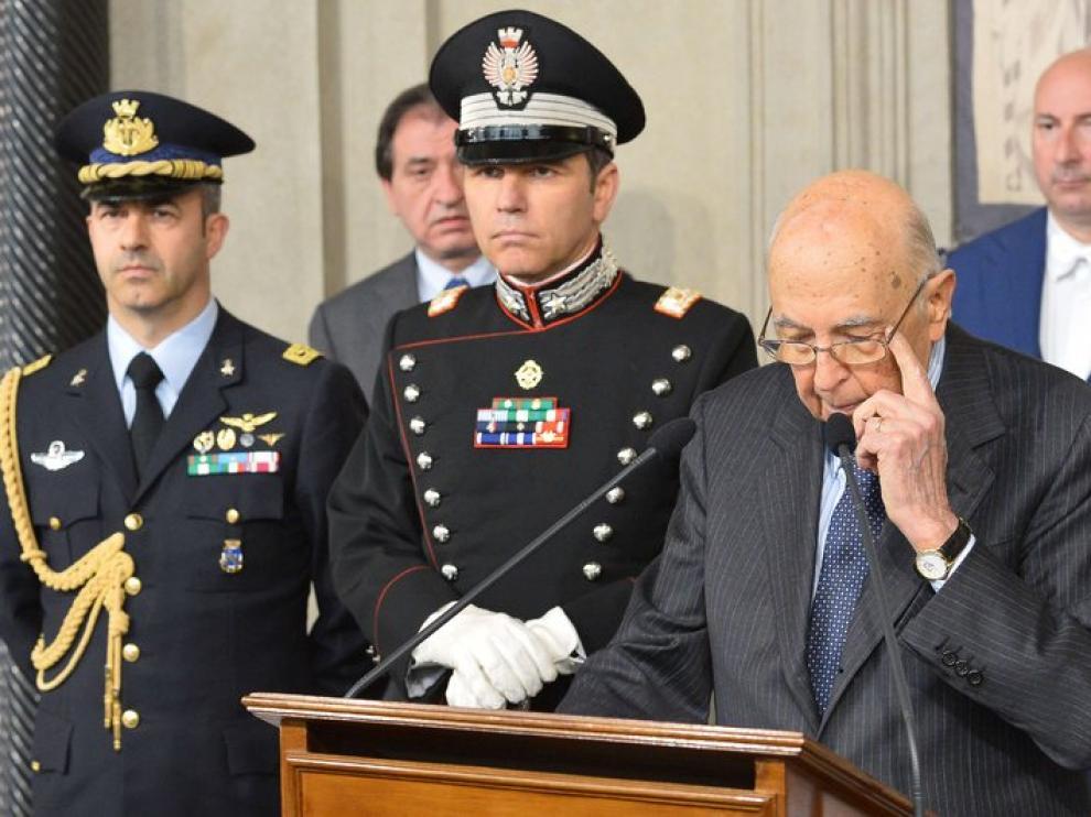 El presidente italiano Giorgio Napolitano