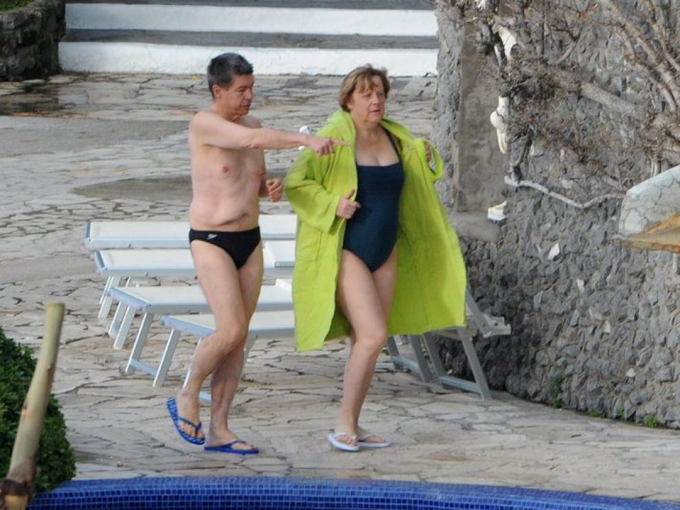 Angela Merkel y su marido Joachim Sauer