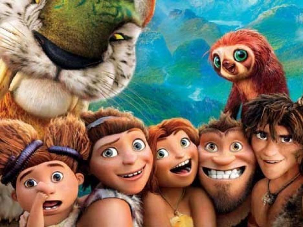 Una imagen de 'Los Croods', una de las películas infantiles en la cartelera