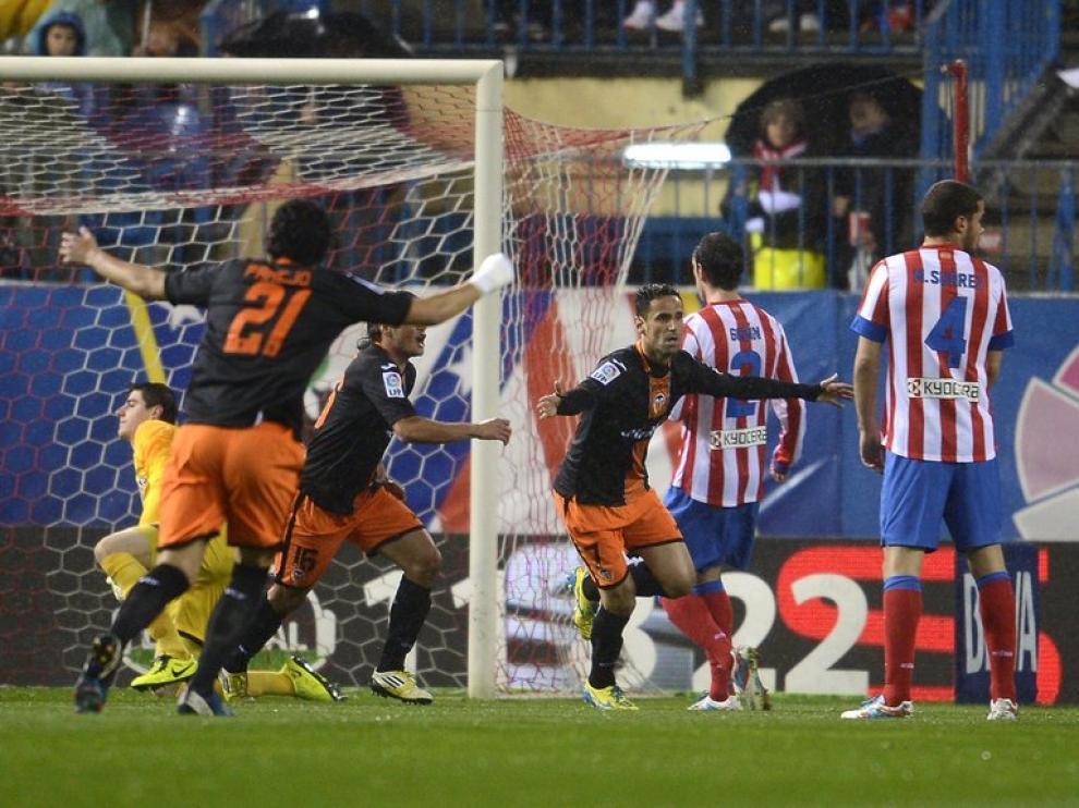 Partido del Valencia frente al Atlético de Madrid
