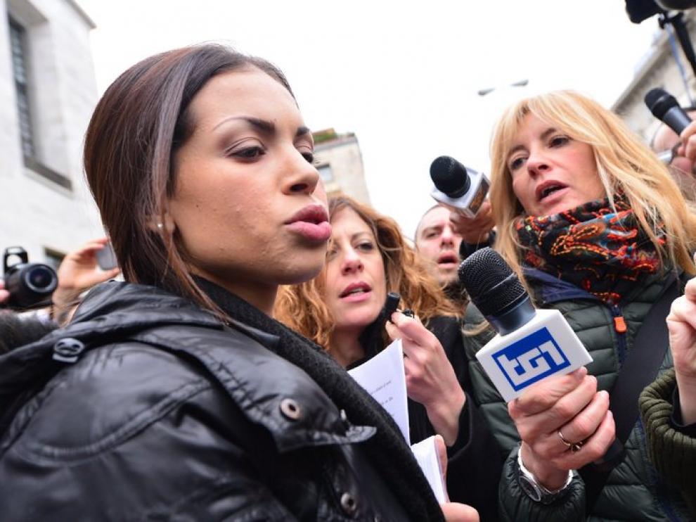 Ruby El Marough, la joven que mantuvo relaciones con Berlusconi cuando era menor.