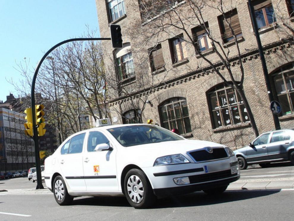 Un taxi en Zaragoza