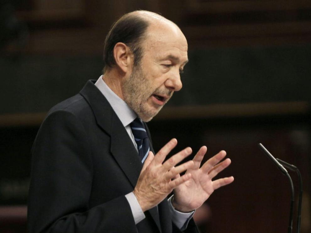 El líder de la oposición, Alfredo Pérez Rubalcaba.
