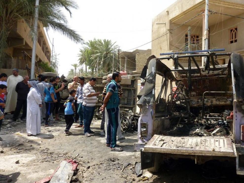 Lugar de uno de los ataques en Bagdad