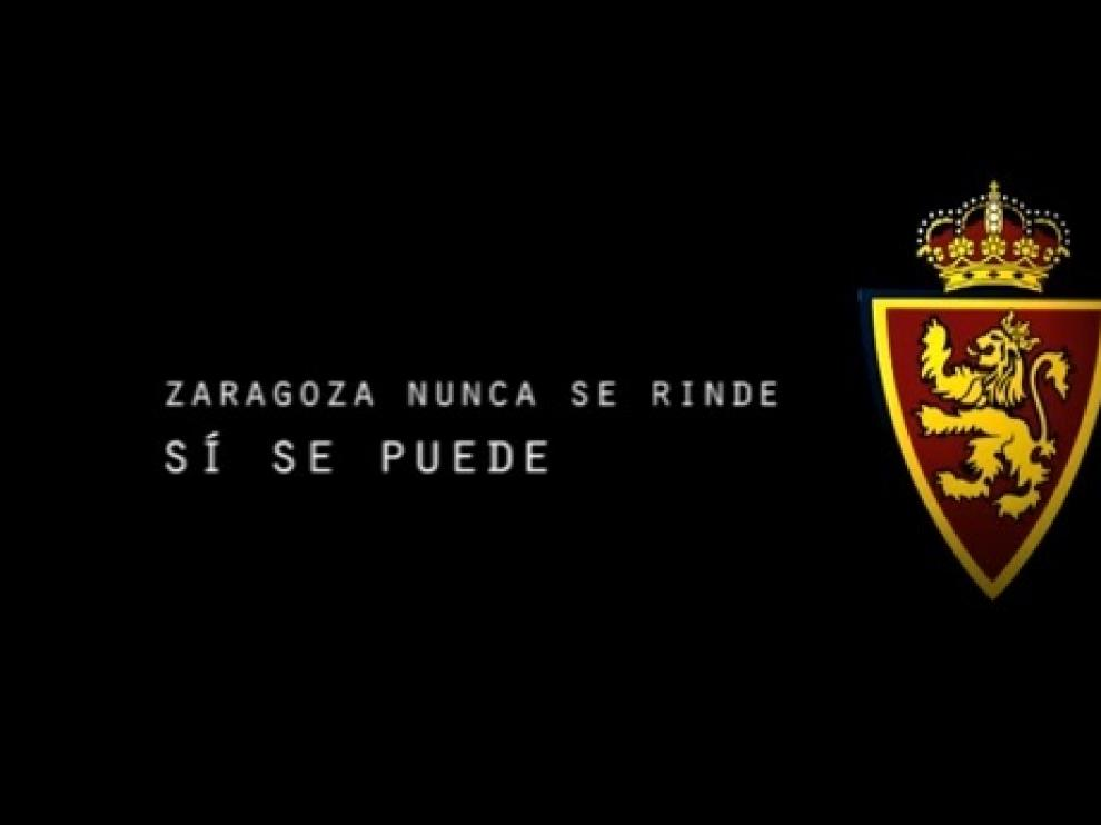 El Real Zaragoza ha lanzado un vídeo para motivar a la afición con el eslogan de 'Sí se puede'