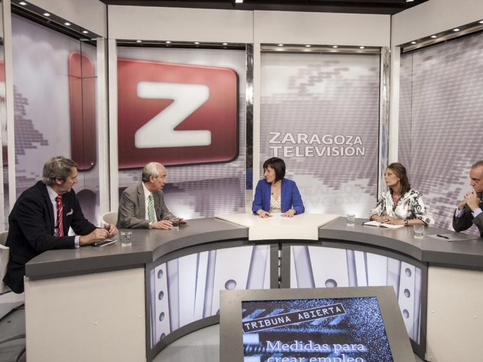 Un momento del debate sobre el empleo en ZTV