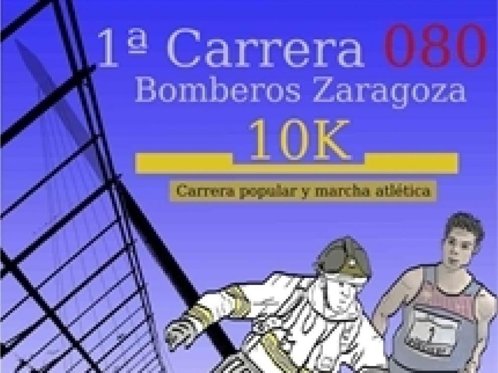 Cartel de la prueba en Zaragoza