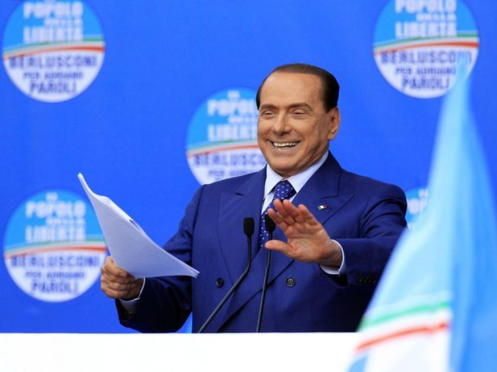 El ex primer ministro conservador italiano Silvio Berlusconi