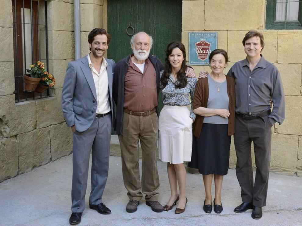 San Juan, a la derecha, con sus compañeros de 'Gran Reserva: el origen'