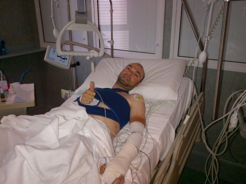 Ángel Vicioso, en el Hospital de Florencia