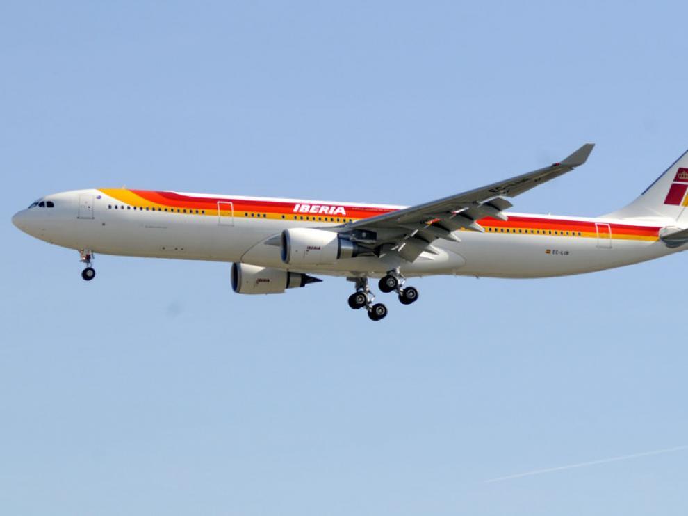 Avión de la compañía Iberia. Imagen de archivo.
