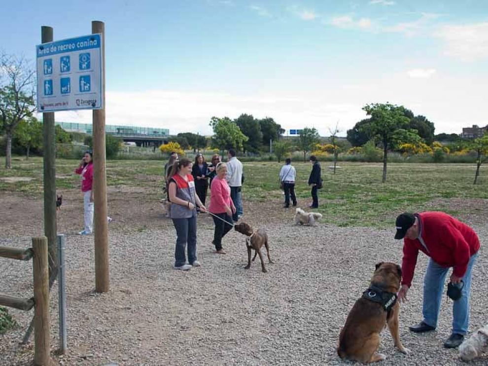 Imagen de archivo de la zona canina en el parque de los Cineastas