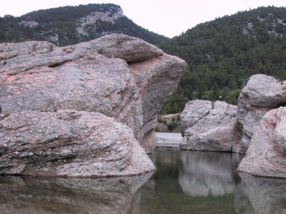 El río Bergantes a su paso por la provincia de Teruel