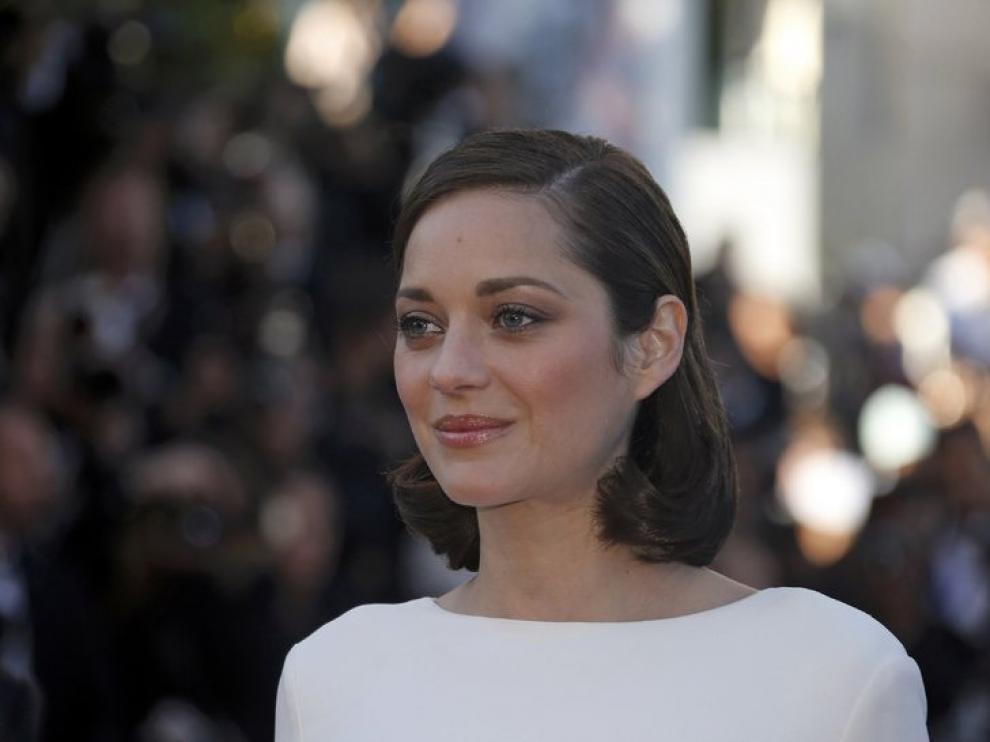 La alfombra roja de Cannes ha recibido a la francesa Marion Cotillard.