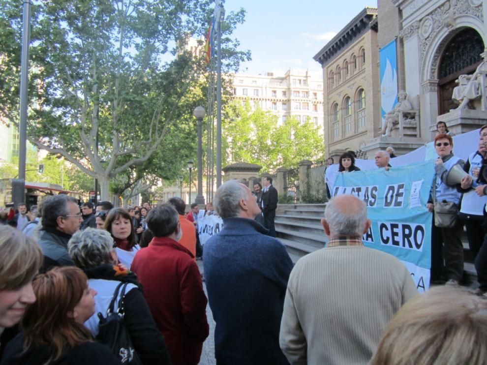 Concentración por la Sanidad Pública en Zaragoza