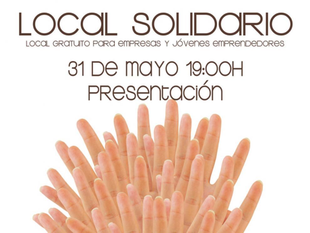 Cartel de la inauguración del local solidario