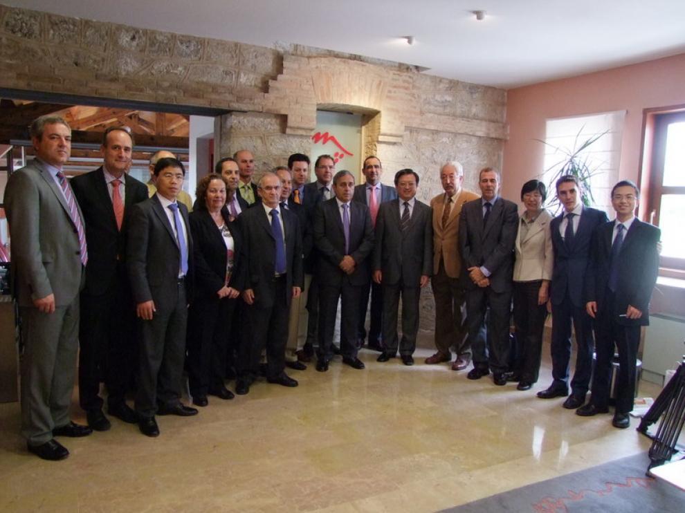 El Embajador Chino en El Somontano