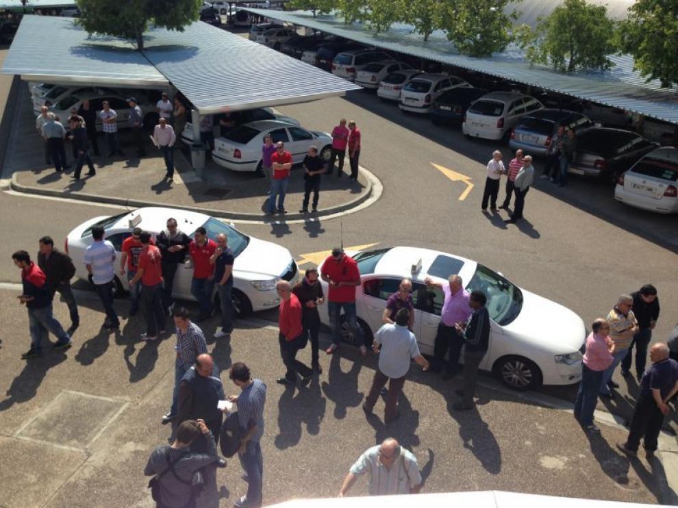 Protesta de los taxistas por el sistema de turnos