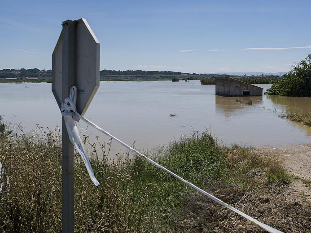 Crecida del Ebro en Novillas, Pradilla Gallur y Boquiñeni