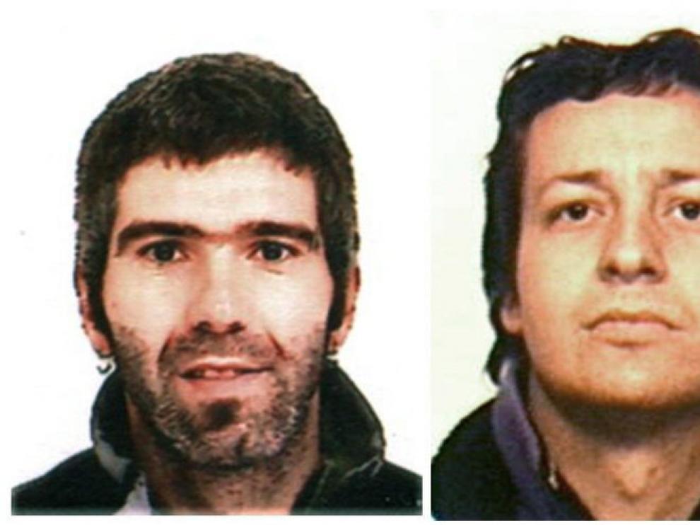 Los etarras Jon Lizarribar Lasarte, de 36 años, y Rubén Gelbentzu González, de 35