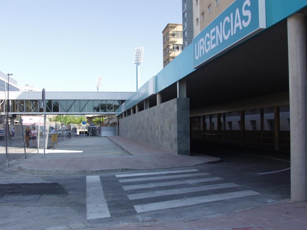 El acceso a las Urgencias del hospital Miguel Servet