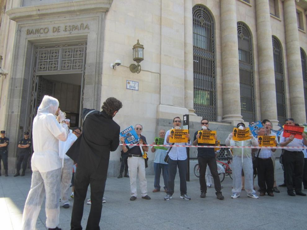 Protesta de los afectados por las preferentes en Zaragoza