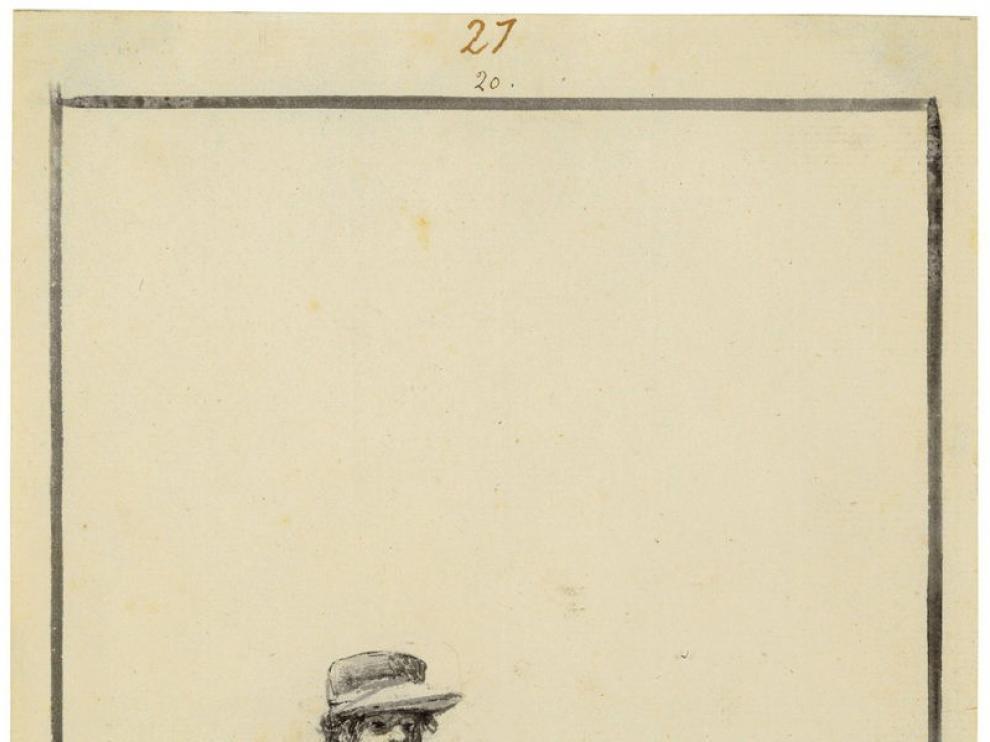 El dibujo 'Si yerras los tiras!' del pintor aragonés Francisco de Goya