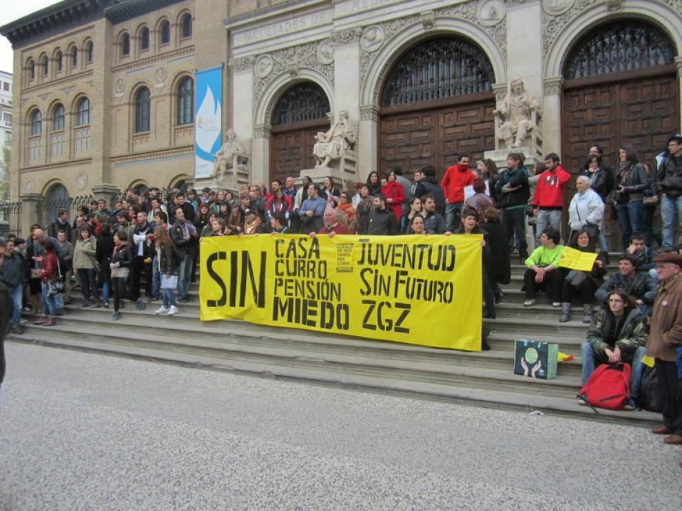Protesta contra la precariedad laboral