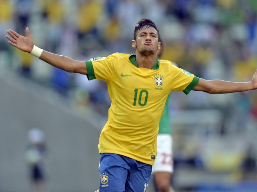 Naymar, en una imagen de archivo con Brasil.