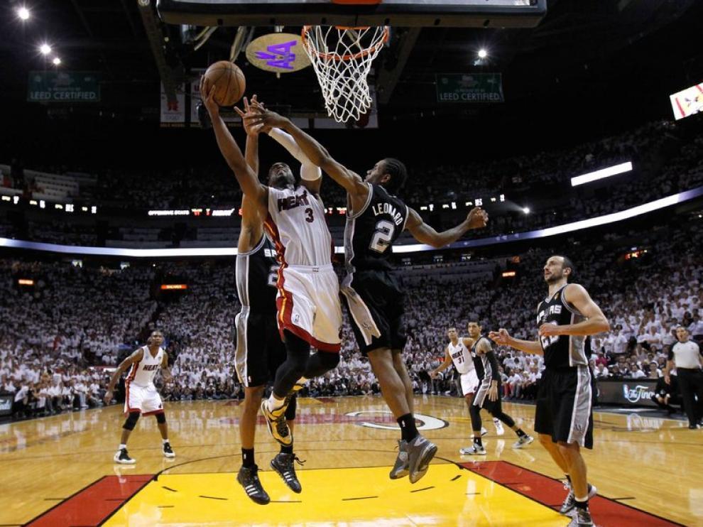 Encuentro entre los Heat de Miami y los Spurs de San Antonio
