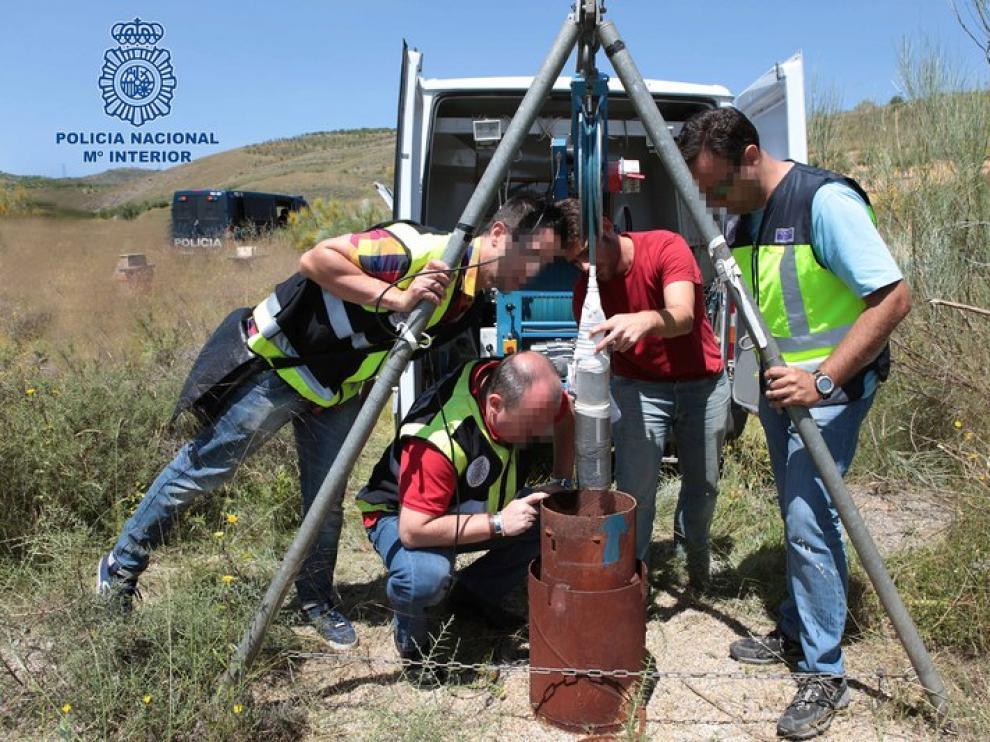Labores de búsqueda en las proximidades del embalse de Mularroya