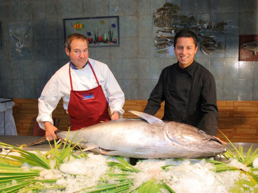 Ángel Muñoz y Abel Mora, chef del Uasabi