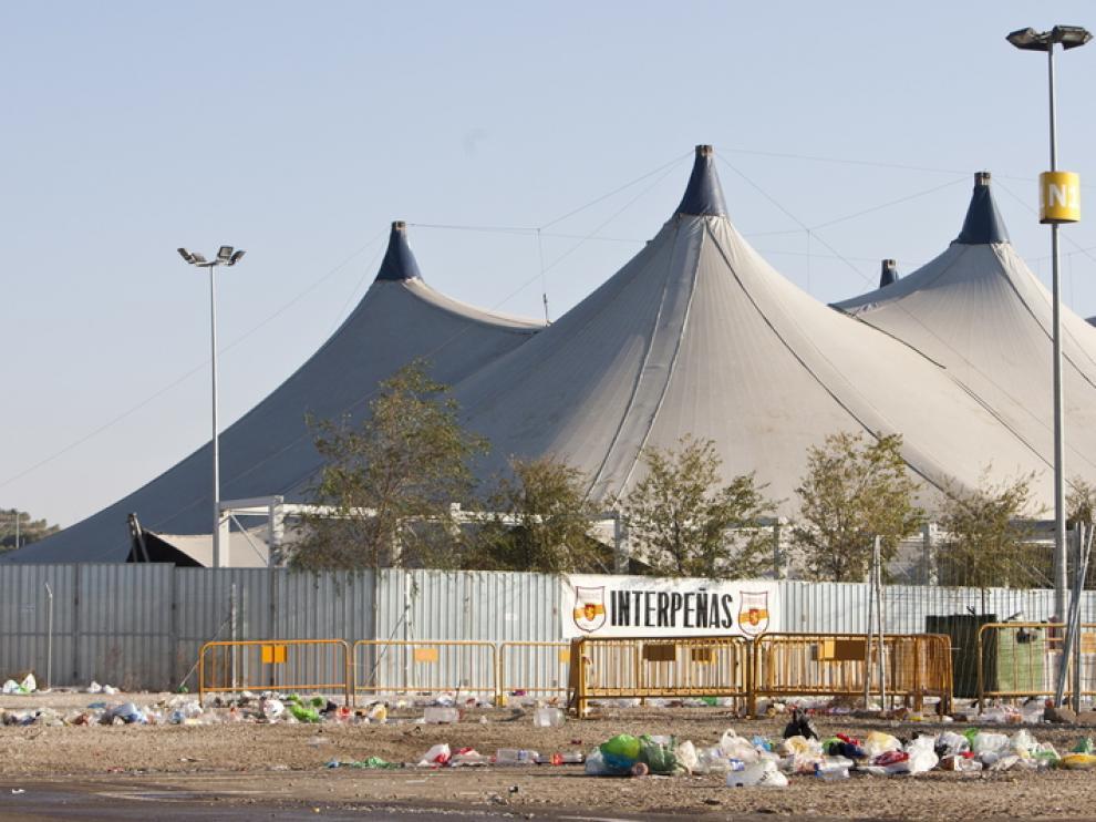 Imagen de archivo del parquin norte de la Expo durante las fiestas