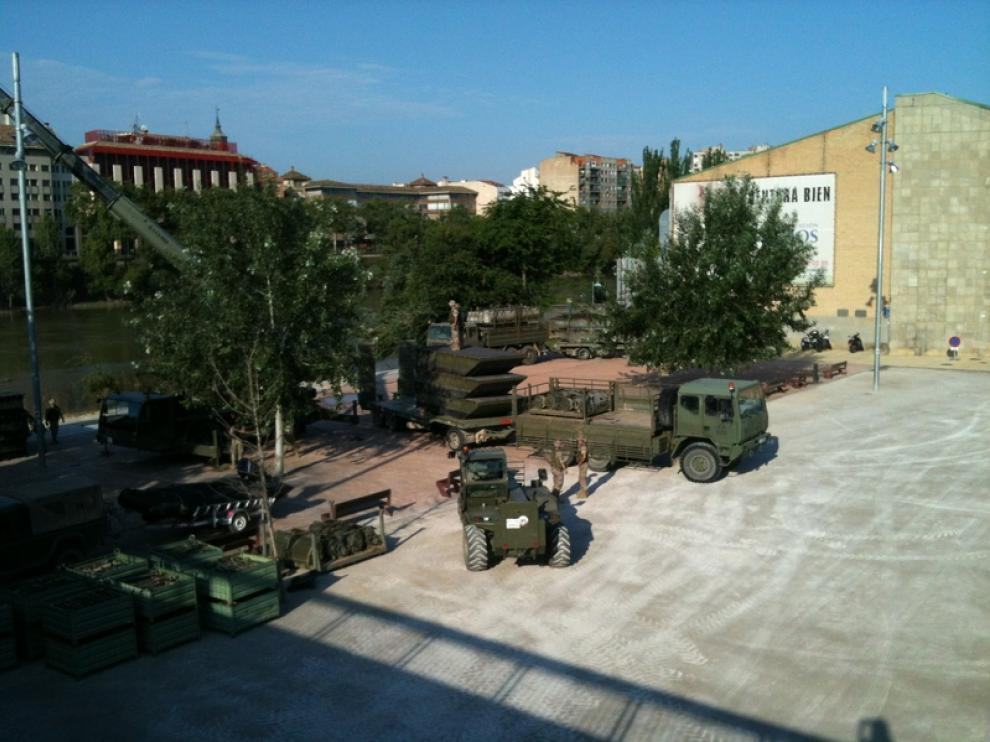 El Ejército trabajando en la zona del río
