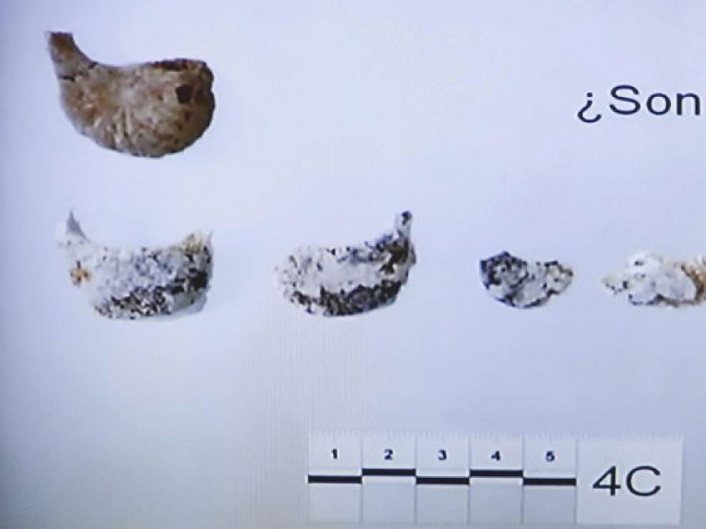 Imagen de los restos óseos que se ha mostrado en el juicio contra Bretón