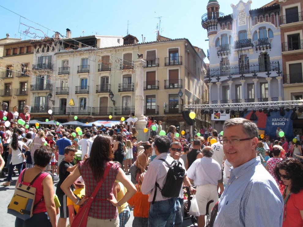 La plaza del Torico en Teruel.
