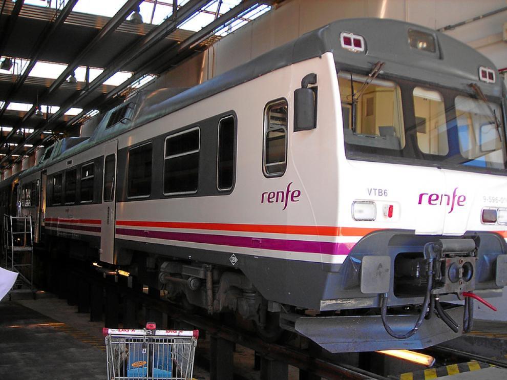 Un tren 'tamagotchi' en Zaragoza.