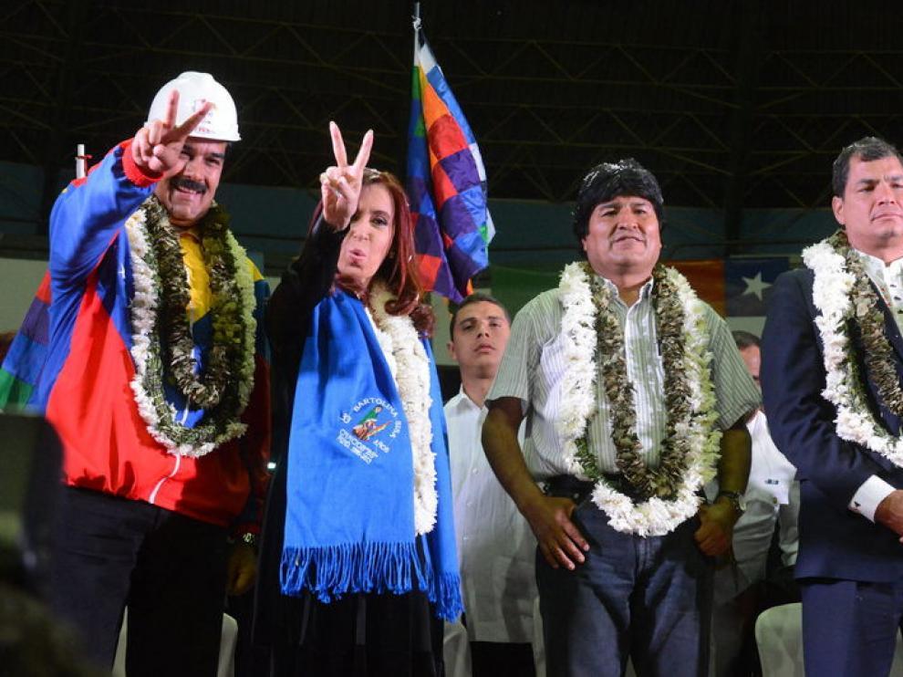 Los líderes de Venezuela, Argentina, Bolivia y Ecuador