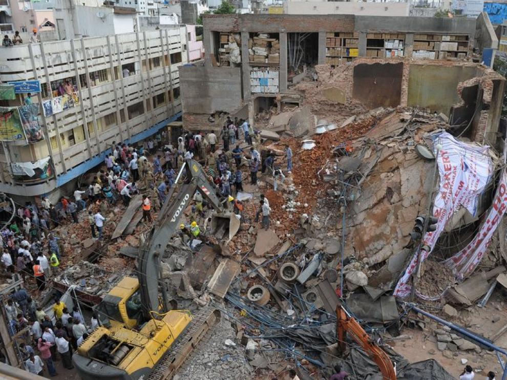 El operativo de rescate trataba de rescatar a los sepultados